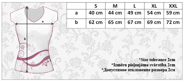 ILIFIA breastfeeding top 100009 size chart